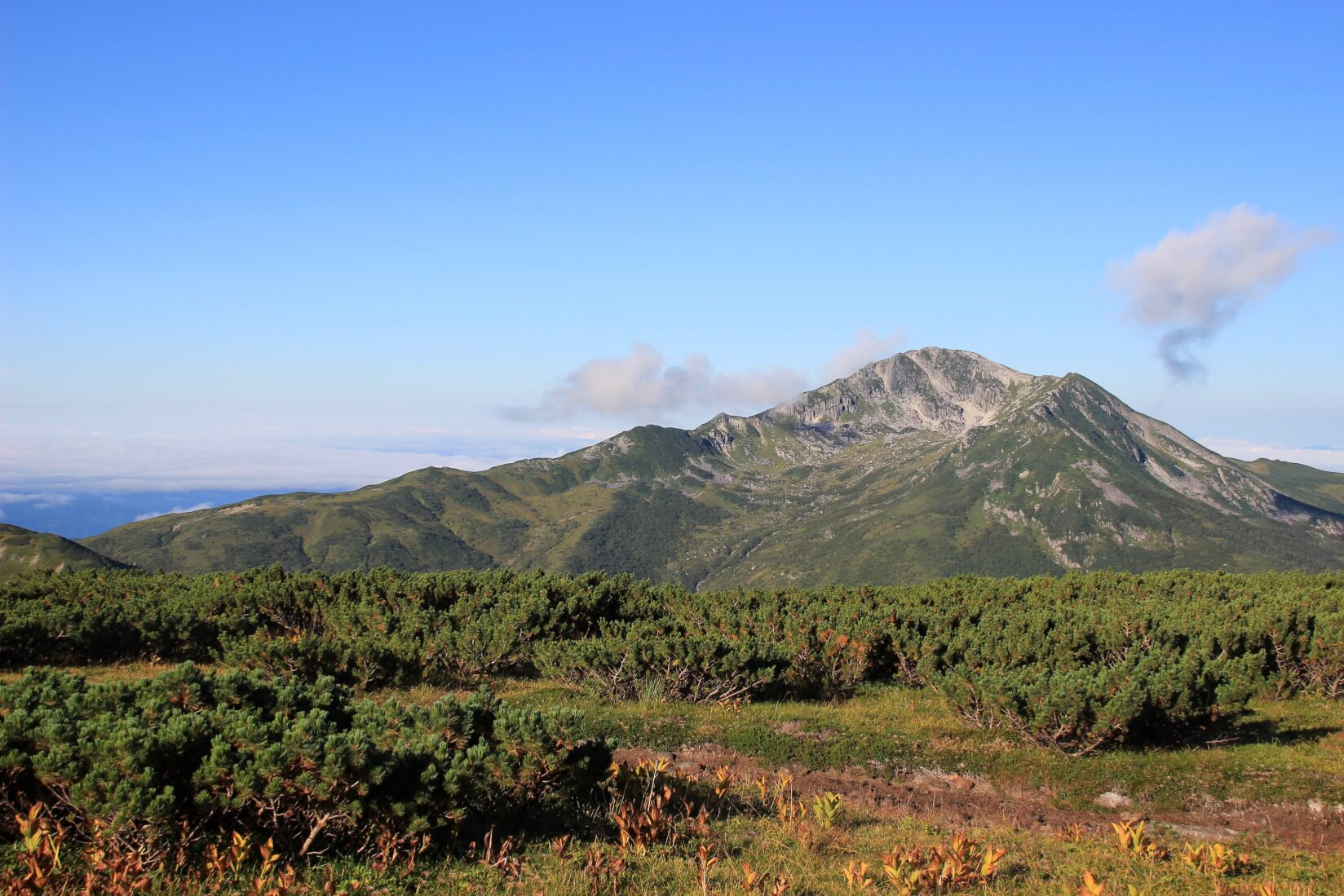 雲ノ平から黒部源流までの区間より黒部五郎岳