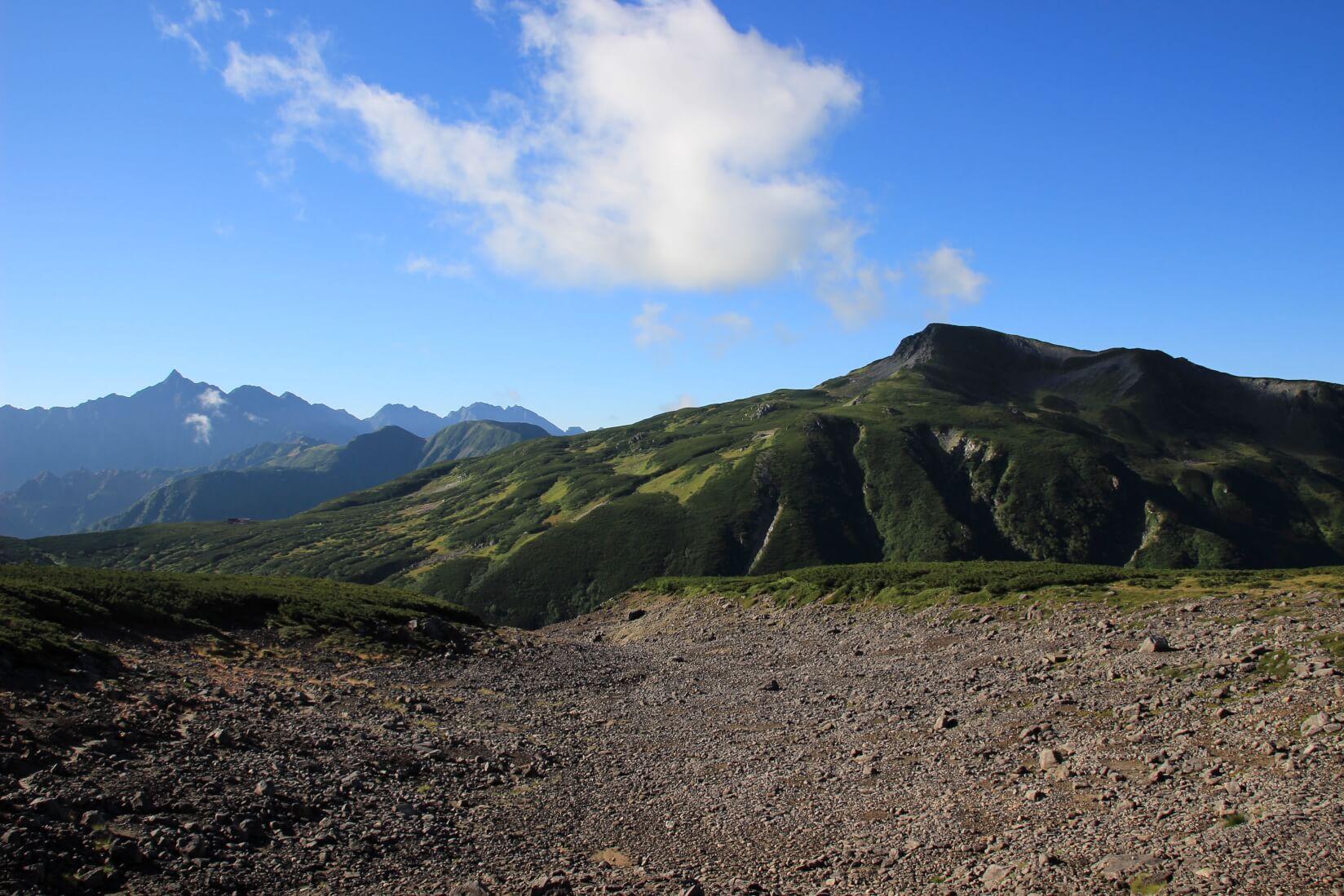 雲ノ平から黒部源流までの区間より槍ヶ岳
