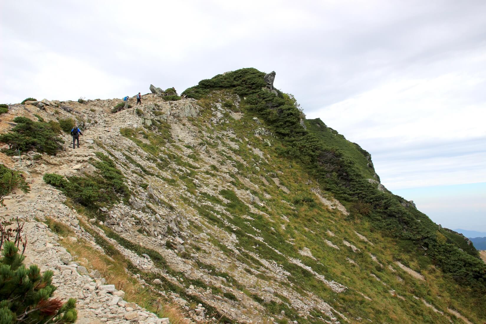 唐松岳頂上直下