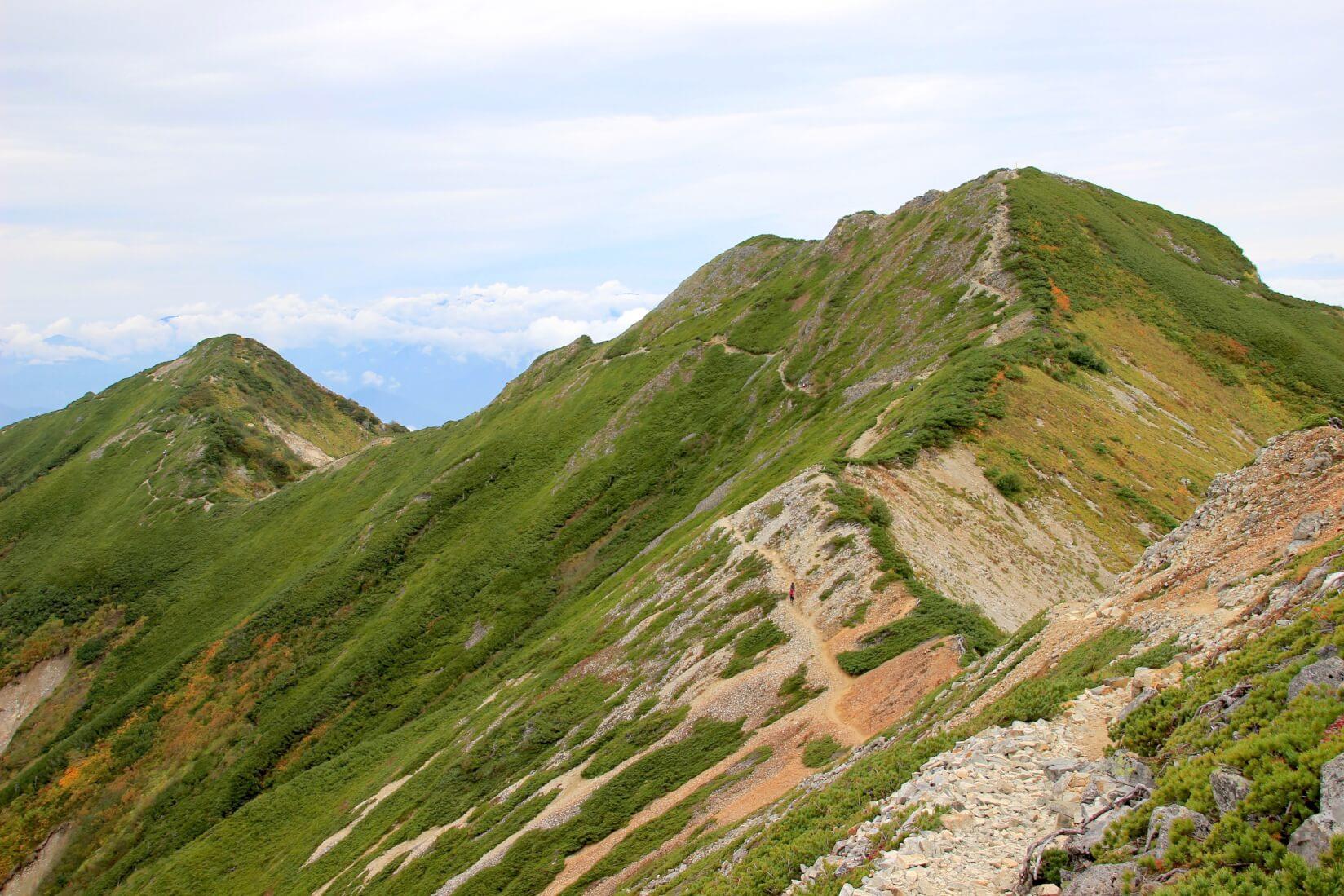 爺ヶ岳中峰と北峰