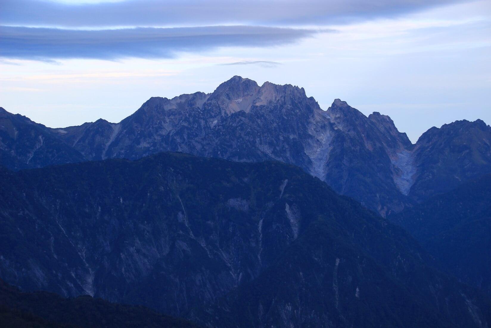 冷池山荘から剱岳