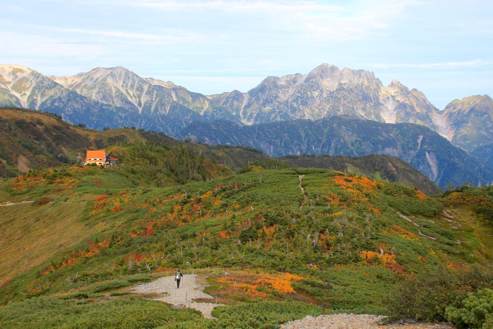 爺ヶ岳から種池山荘