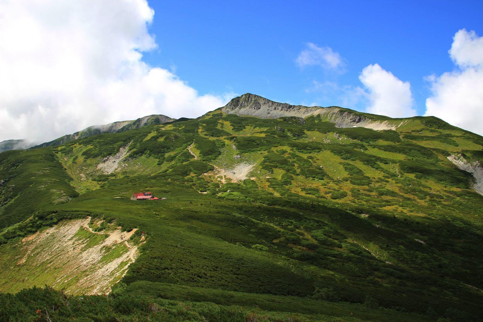 鷲羽岳より三俣山荘