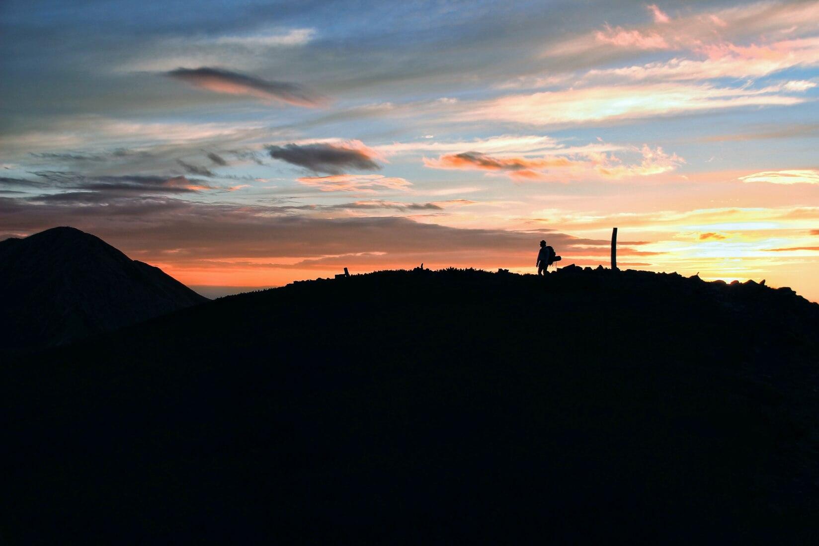 夜明け前の三俣蓮華岳山頂