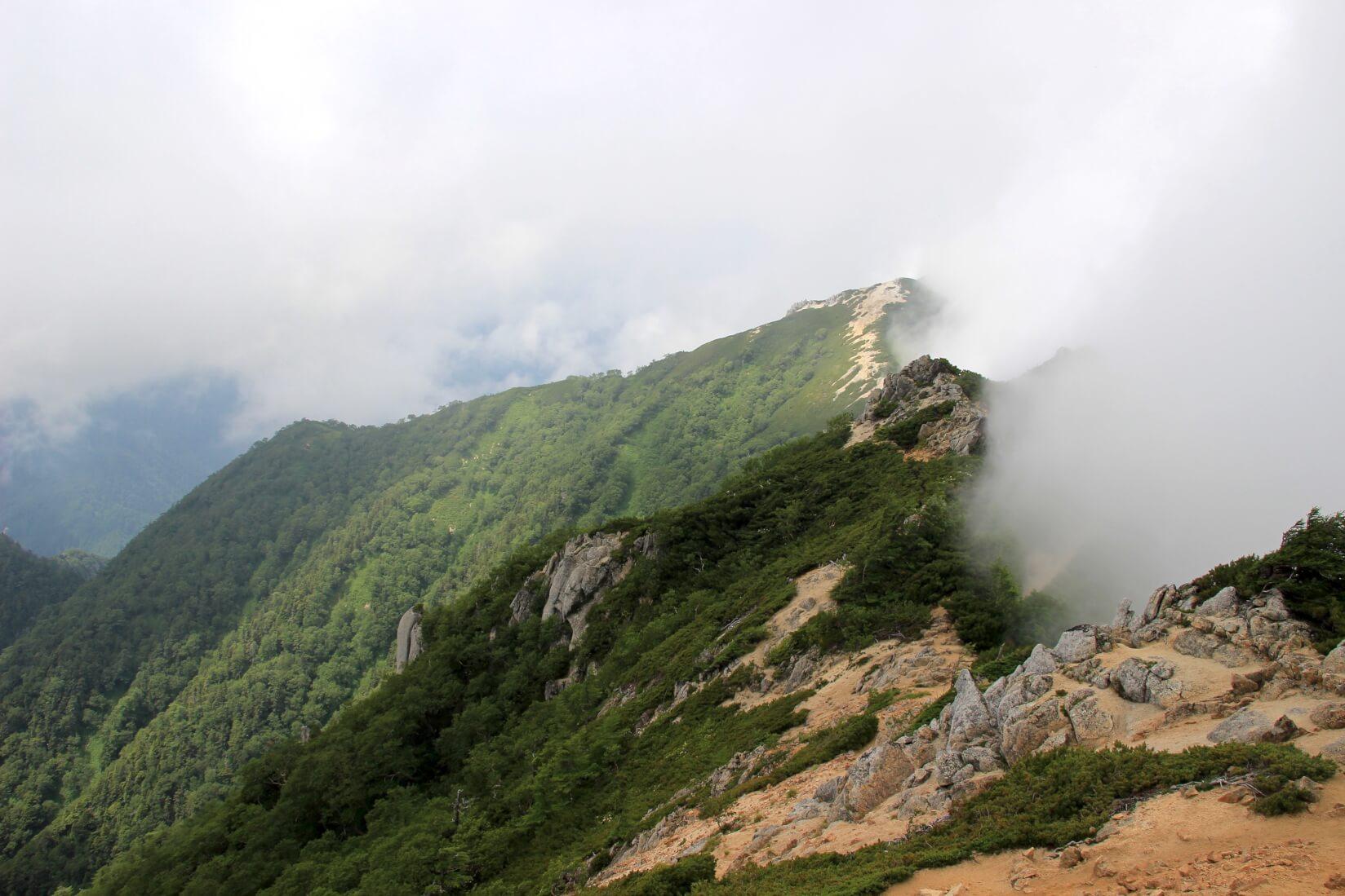 表銀座縦走路燕岳〜大天井岳区間