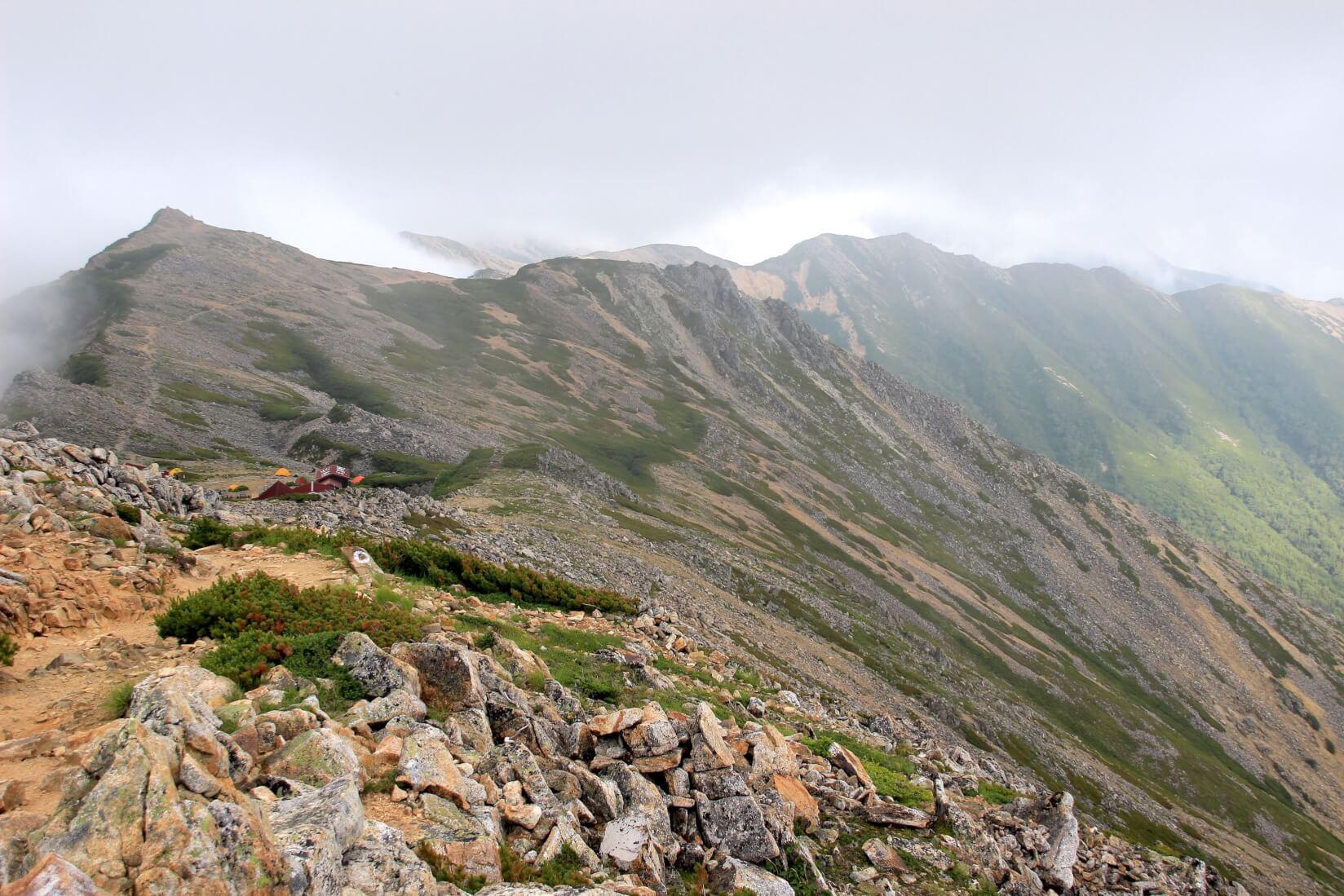 大天井岳山頂からの眺め