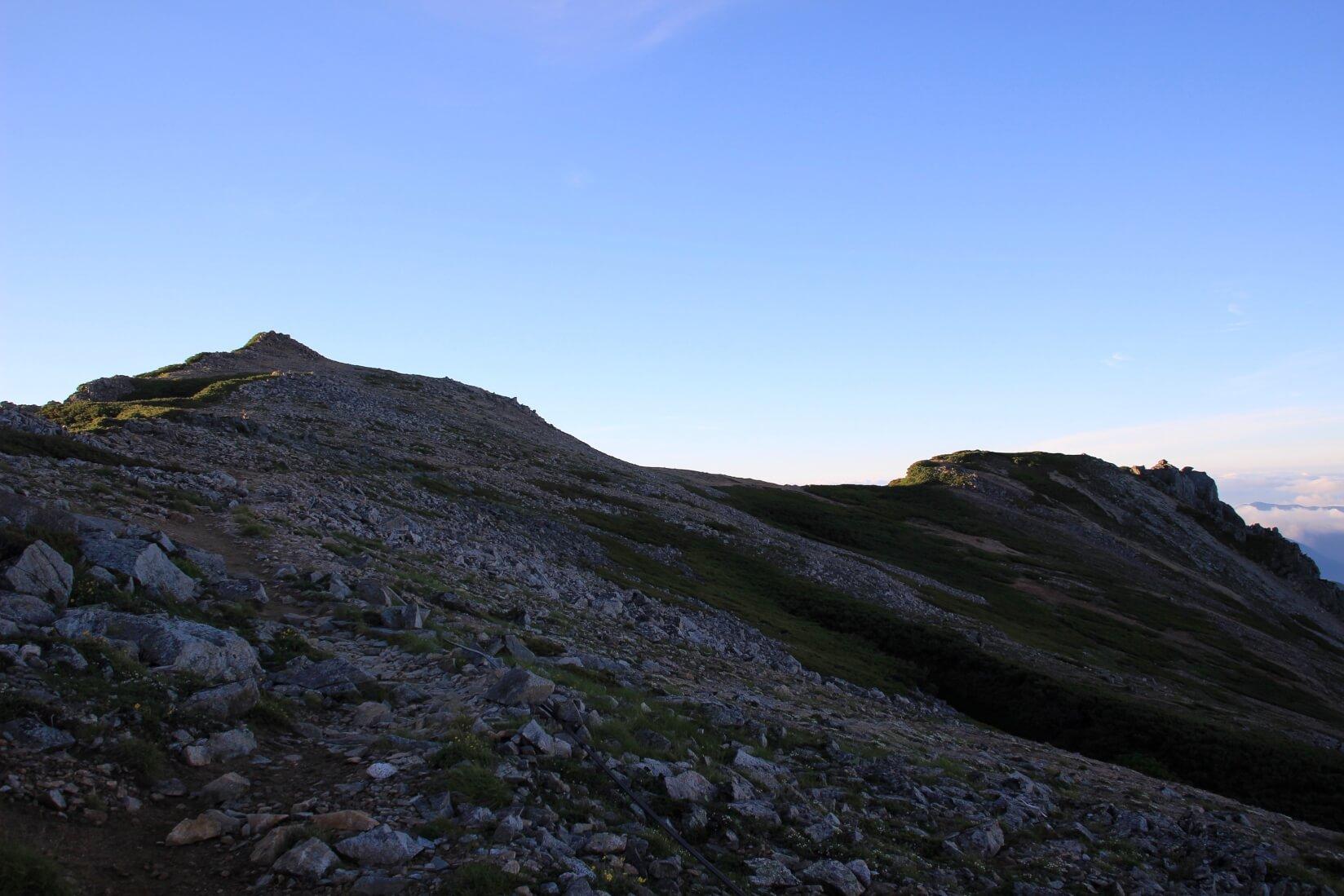 大天荘付近の稜線