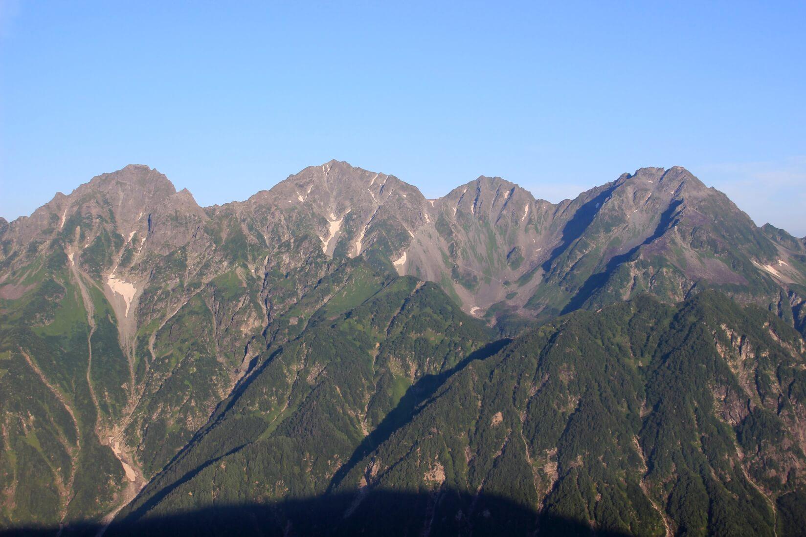 蝶ヶ岳より穂高連峰