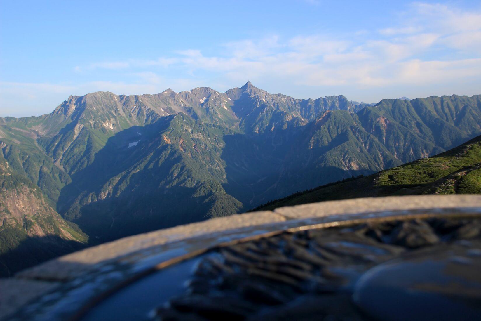 瞑想の丘より槍ヶ岳