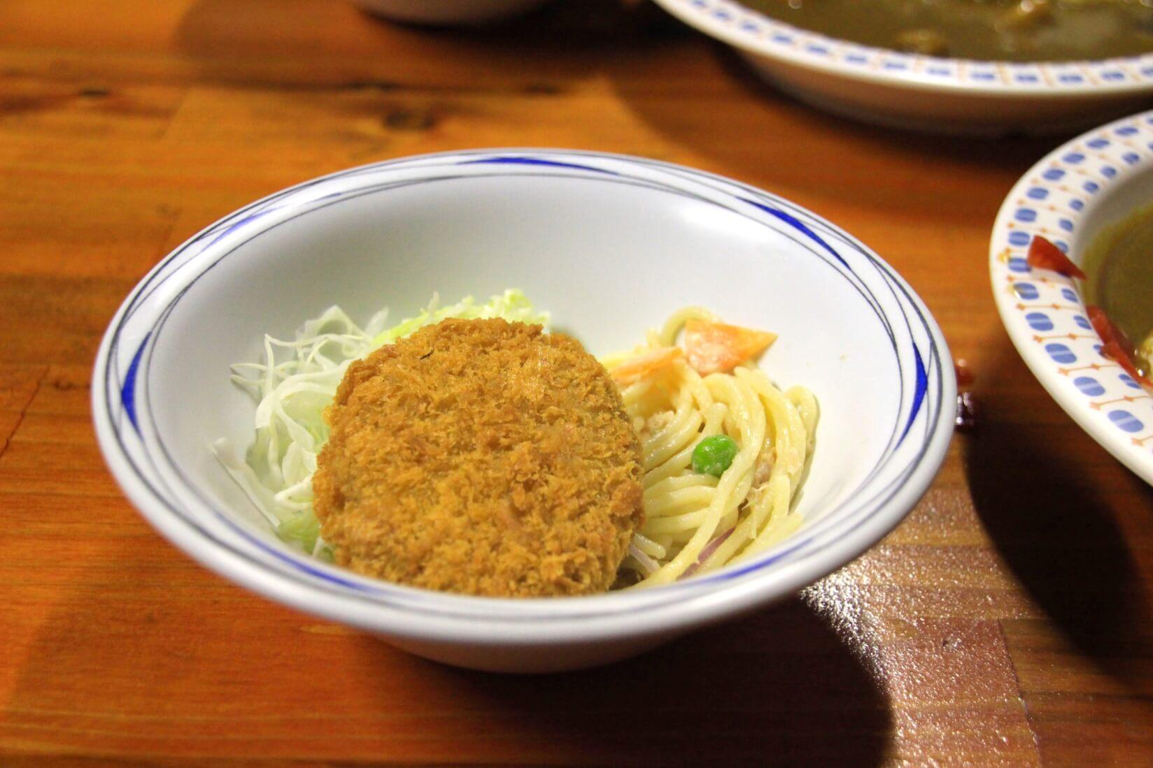 阿曽原温泉小屋の夕食
