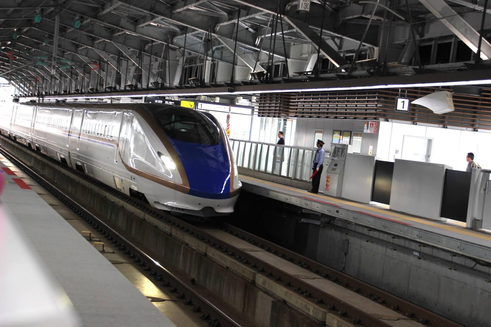 北陸新幹線、黒部宇奈月温泉駅