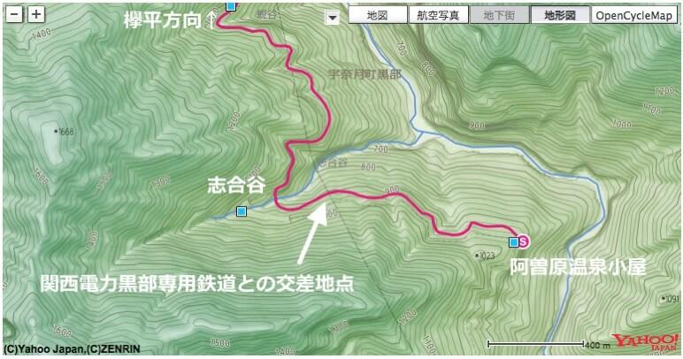 下ノ廊下、志合谷地図