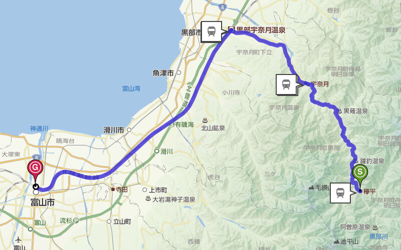 欅平→富山